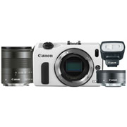 Canon EOS M Kit + 22 f/2 STM + 18-55 f/3.5-5.6 IS STM + 90EX (белый)