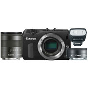 Canon EOS M Kit + 22 f/2 STM + 18-55 f/3.5-5.6 IS STM + 90EX (черный)